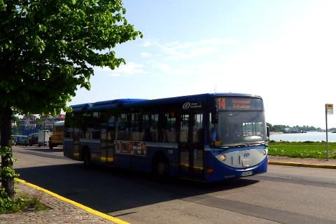 Bussi 14 Hernesaaressa
