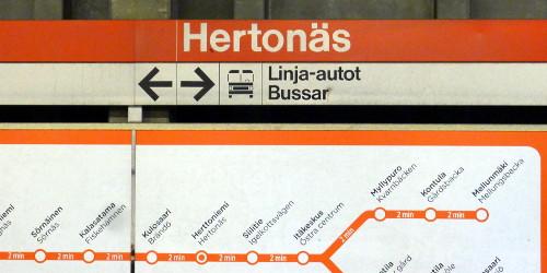 Herttoniemen metroasema, opasteet
