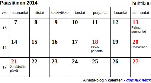 Pääsiäinen 2014