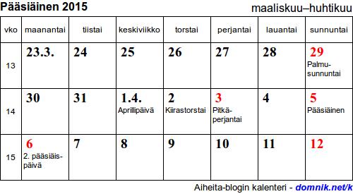 juhannus 2015 kalenteri