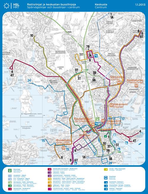Helsingin raitiovaunut sekä bussilinjat 15, 17 ja 24