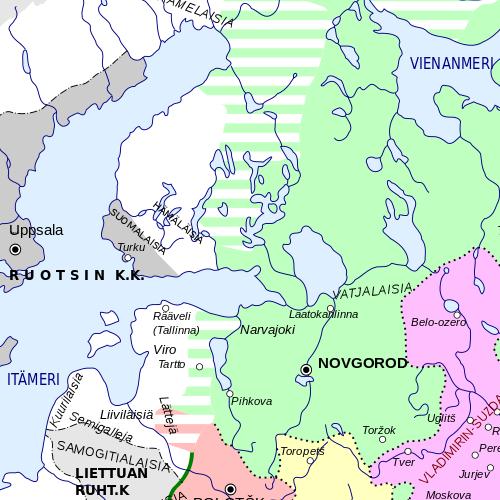 Novgorodin tasavalta ja Ruotsi vuonna 1237