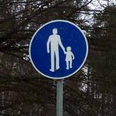 Jalkakäytävän liikennemerkki