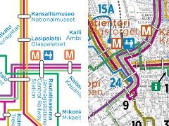 Raitiovaunukaavio ja raitiovaunukartta 2012