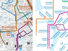 Helsingin raitiovaunukartta 2013