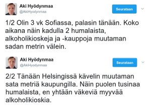 Alkoholi: Suomi vs. Bulgaria