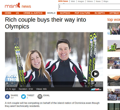 MSN News: Gary ja Angelica di Silvestri, Dominica