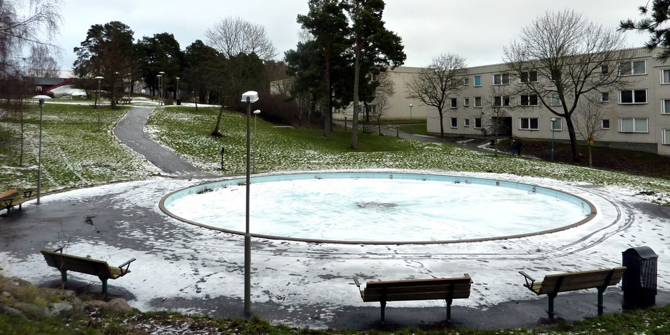Vesialtaassa on talvella vain lunta