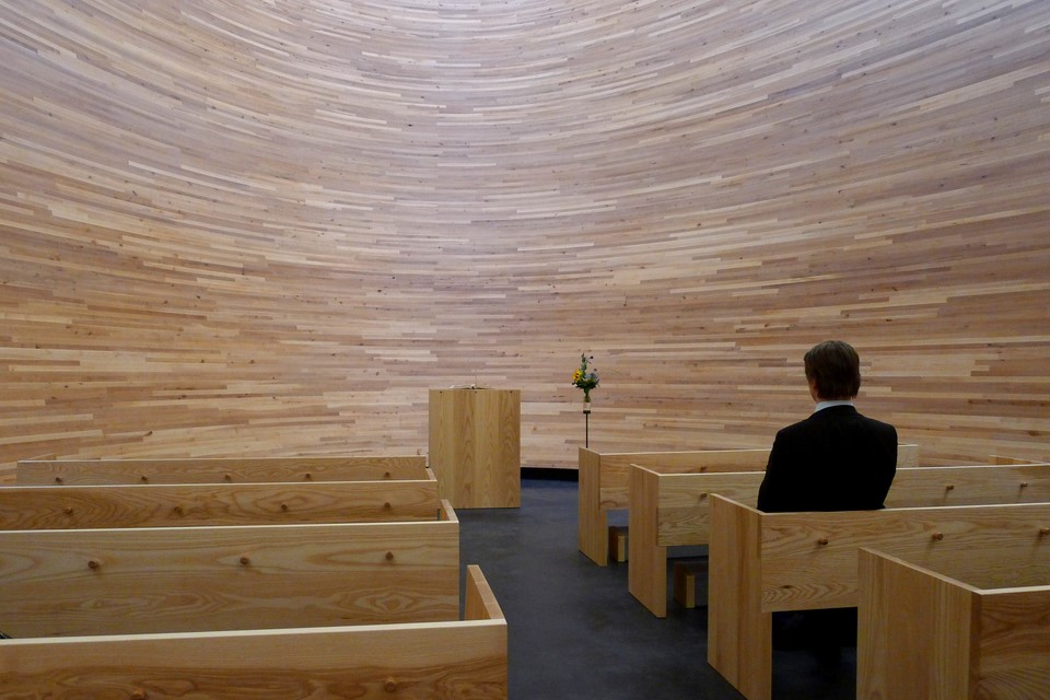 Man sitting in the chapel