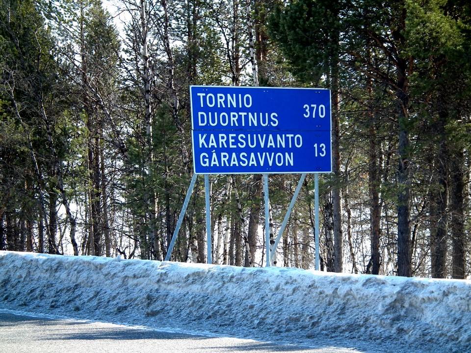 Tornio 370 km, Karesuvanto 13 km