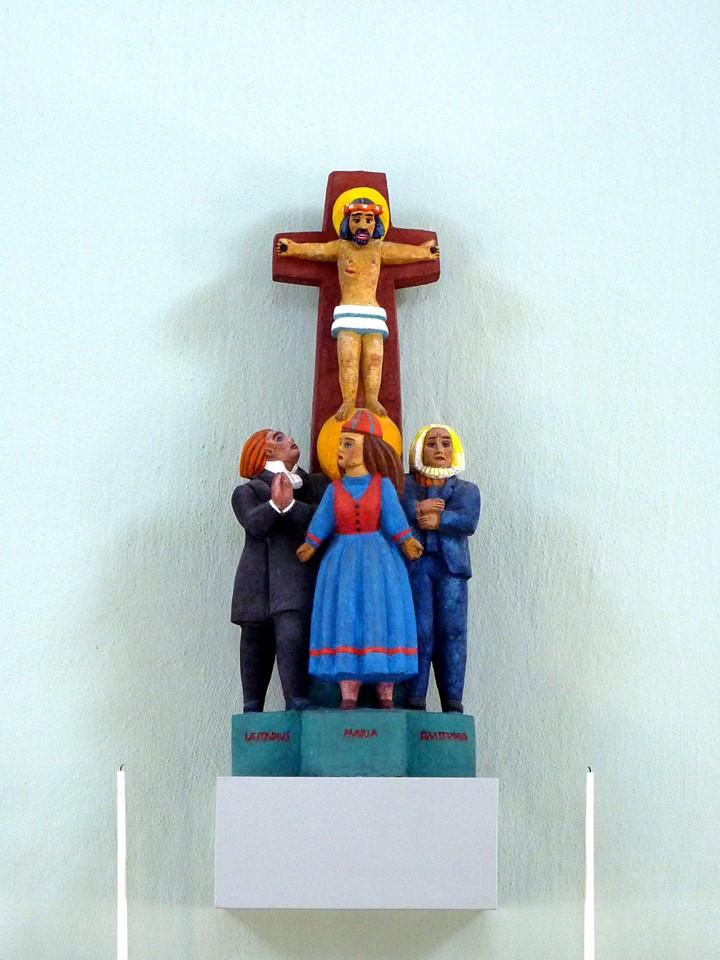 Laestadius, Marie et Raattamaa au pied de la croix