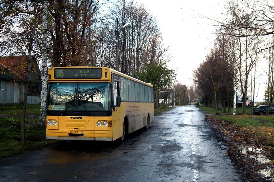 Tämä bussi olisi menossa Torsvikin kautta Ikeaan