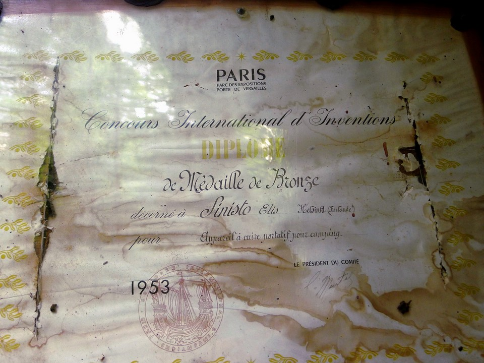 Pronssimitali kansainvälisestä keksintökilpailusta (Pariisi 1953)