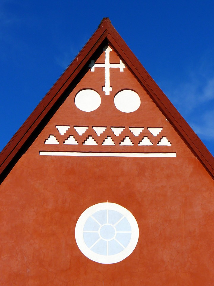 Gable of the church