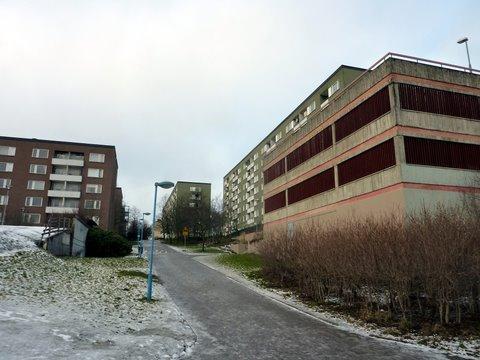 Liukas rinne ylös Rinkebyn mäelle