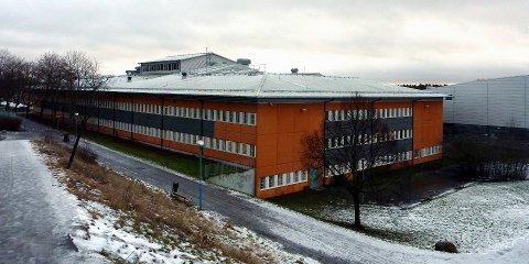 Rinkebyn koulu (Rinkebyskolan) viereiseltä mäeltä nähtynä