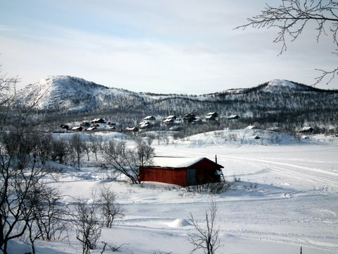 Kilpisjärvi: village and the lake