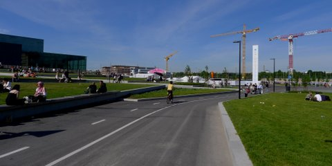 Cycleway continues in the Finlandia Park