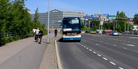 Onnibus stop at Kupittaa, Turku