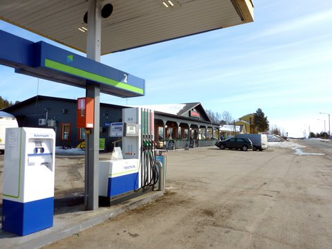 Rajabaari and Neste Oil gas station