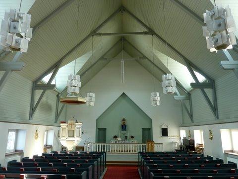 L'église de Karesuando à l'intérieur