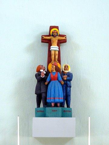 Laestadius, Mary and Raattamaa at the cross of Jesus