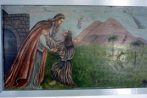 Une peinture dans l'église