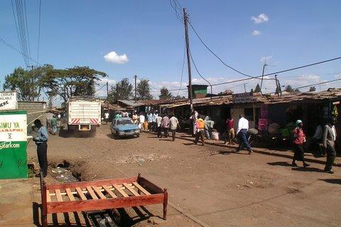 Karanja Road Kiberan ylemmässä osassa