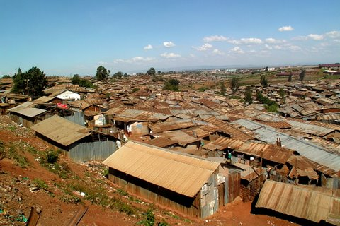 Kibera on yksi Afrikan suurimmista slummeista