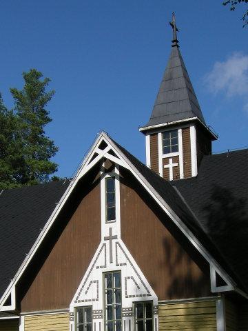 La flèche de l'église