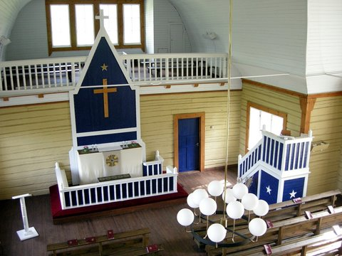 Himalansaari Church interior
