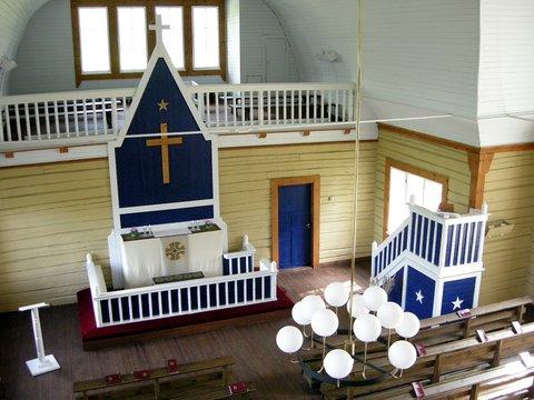 Vue intérieure de l'église de Himalansaari