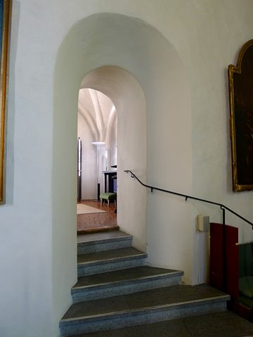 Stair to sacristy