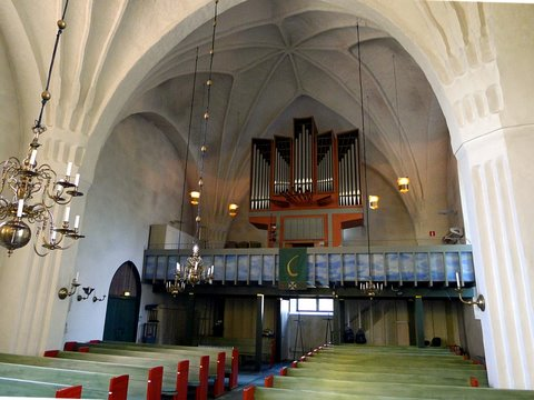 The pipe organ of the church