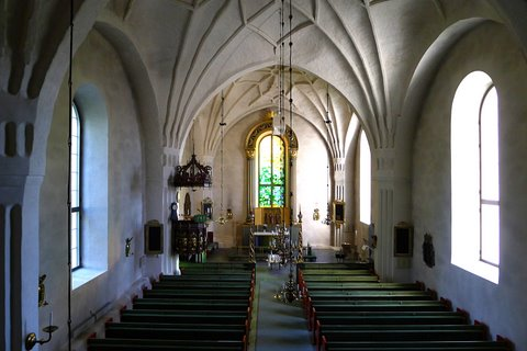 Interior view of the church