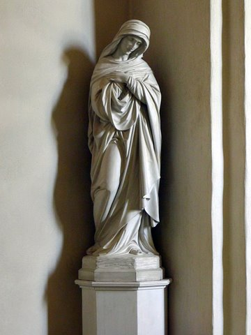 Statue in a corner of the church