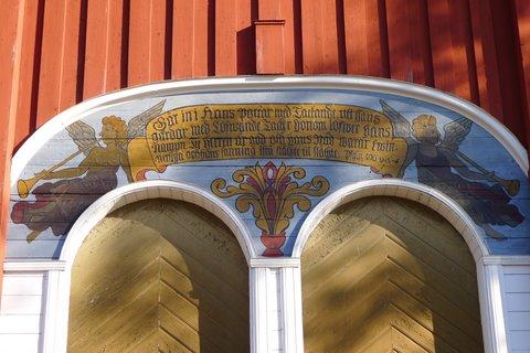 Kalixin kirkon kellotorni: Psalmi 100