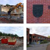 Démolition de l'école de Rantakylä