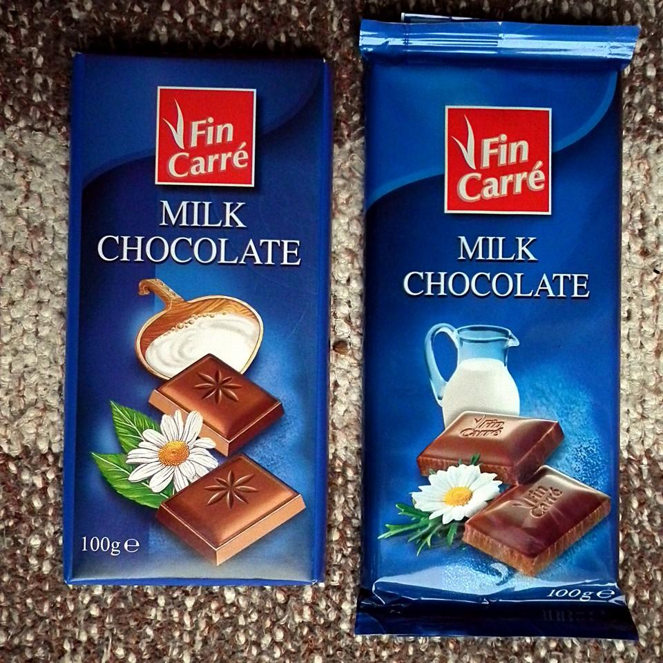 Lidl Fin Carré milk chocolate
