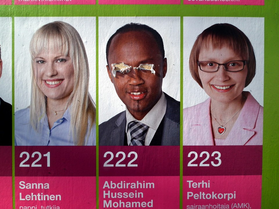 Keskustan vaalijuliste / Centre party election poster