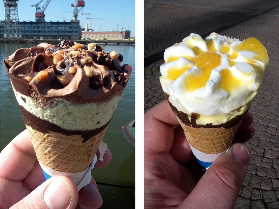 Cornetto Pistachio Chocolate & Lemon ice cream
