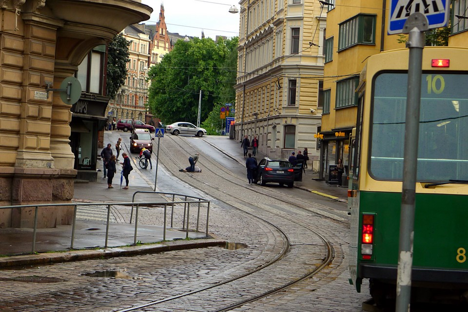 Pyöräilyonnettomuus / Cycling accident, Helsinki