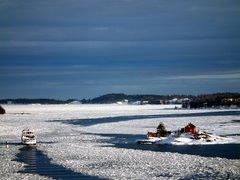 Suomenlinnan lautta talvella