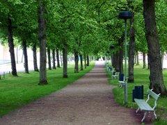 Les esplanades de Mariehamn