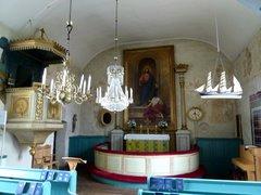 Eckerön kirkko sisältä
