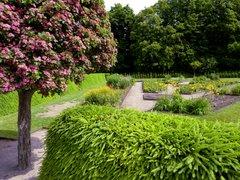 L'une partie du jardin baroque