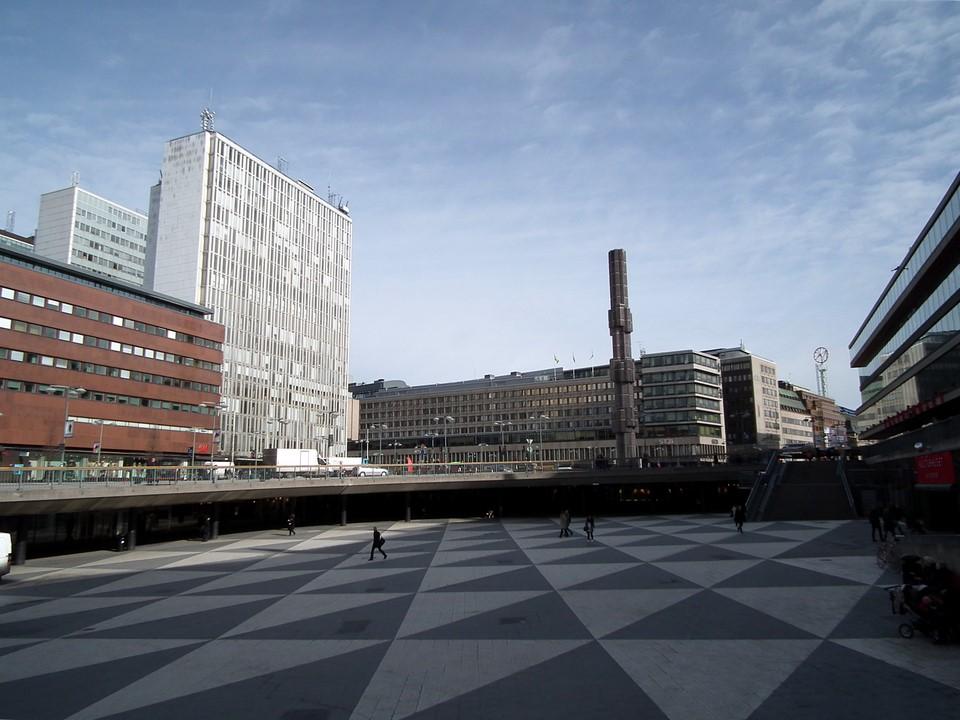 Sergels torg et Drottninggatan