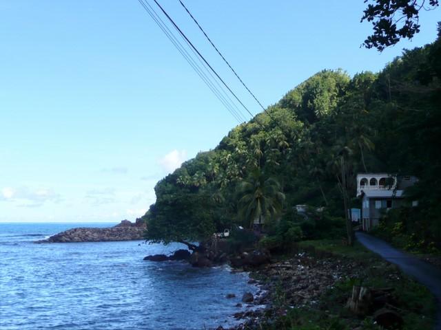 Océan et maisons