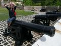 Mari on a cannon
