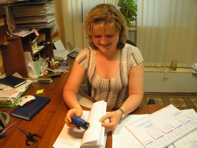 Olga at work